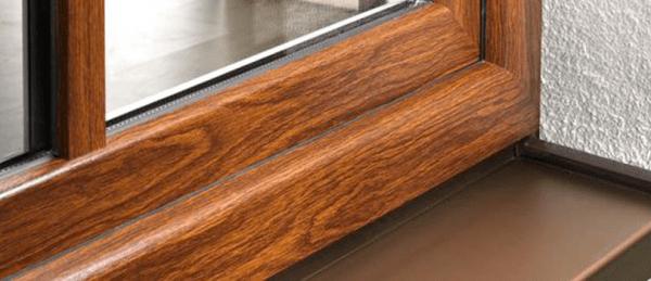 kunststof kozijn in houtkleur